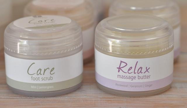 Care foot scrub & Relax massage butter